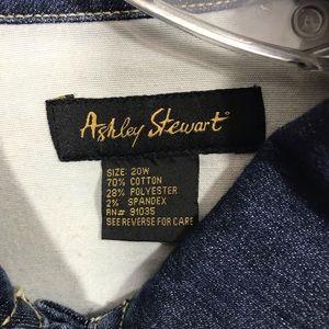 Ashley Stewart Jackets & Coats - Women's Ashley Stewart crop jean jacket size 20W